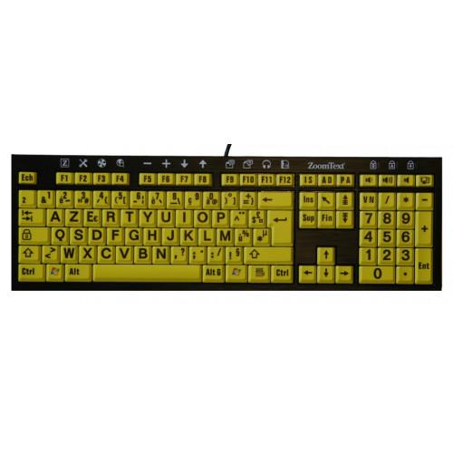 Clavier Zoomtext jaune